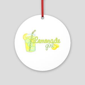 Lemonade Girl Ornament (Round)