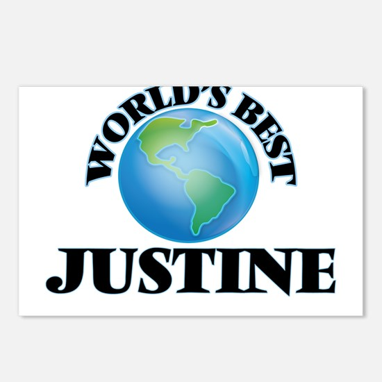 World's Best Justine Postcards (Package of 8)
