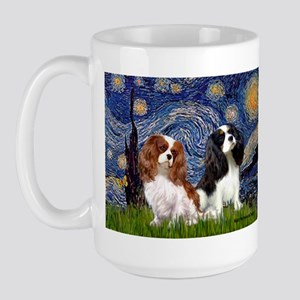 Starry Cavalier Pair Large Mug