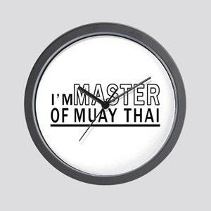 I Am Master Of Muay Thai Wall Clock