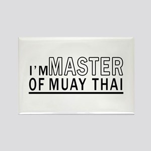 I Am Master Of Muay Thai Rectangle Magnet