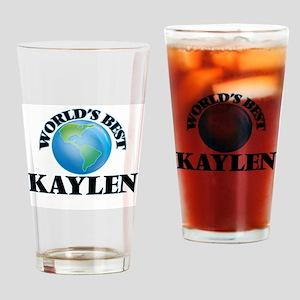 World's Best Kaylen Drinking Glass