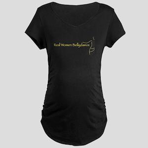 Real Women Bellydance Maternity Dark T-Shirt