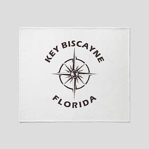Florida - Key Biscayne Throw Blanket