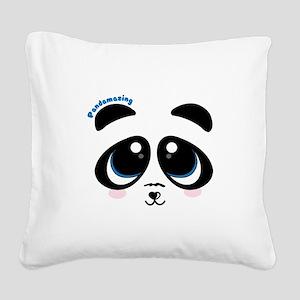 Pandamazing Square Canvas Pillow