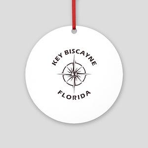 Florida - Key Biscayne Round Ornament