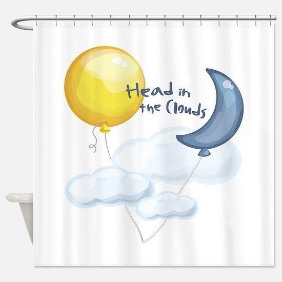 Head In Clouds Shower Curtain