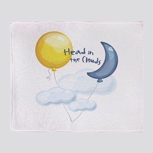 Head In Clouds Throw Blanket