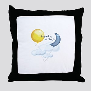 Head In Clouds Throw Pillow