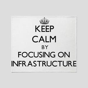 Keep Calm by focusing on Infrastruct Throw Blanket