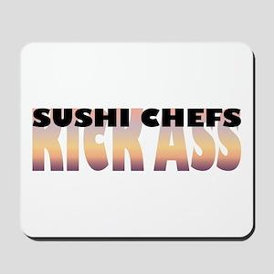 Sushi Chefs Kick Ass Mousepad
