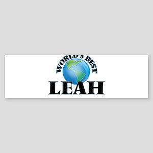 World's Best Leah Bumper Sticker