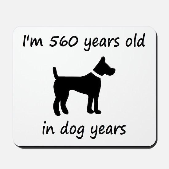 80 dog years black dog 1C Mousepad