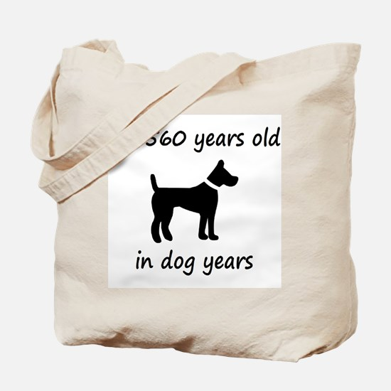 80 dog years black dog 1C Tote Bag
