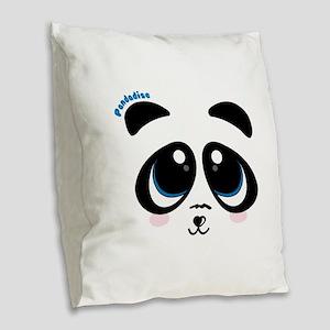 Pandadise Burlap Throw Pillow