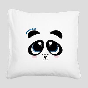 Pandadise Square Canvas Pillow