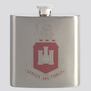 113th Army Engineer Battalion Military Patch Flask