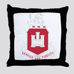 113th Army Engineer Battalion Militar Throw Pillow
