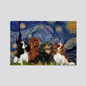 Starry / 4 Cavaliers Rectangle Magnet