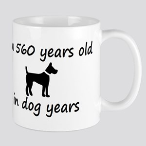 80 dog years black dog 2 Mugs