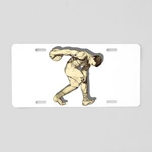 Discus Thrower Aluminum License Plate