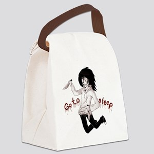 Jeff the Killer Canvas Lunch Bag