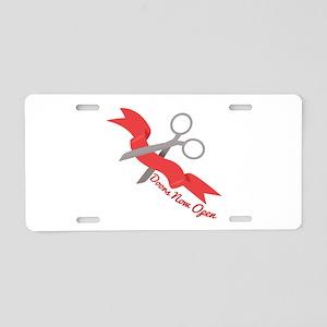Now Open Aluminum License Plate