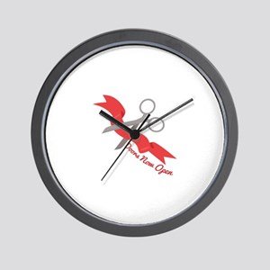 Now Open Wall Clock