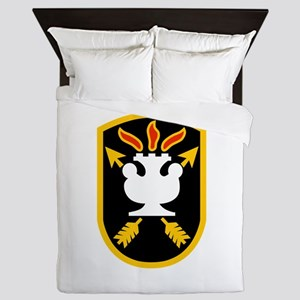 ARMY Special Forces Warfare School Fla Queen Duvet