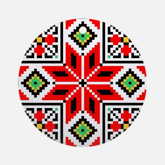 Folk Design 3 Ornament (Round)
