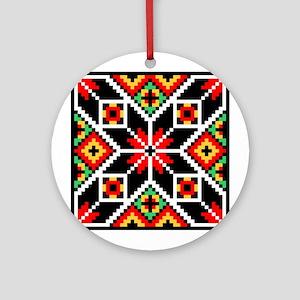 Folk Design 2 Ornament (Round)