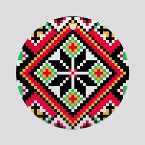 Folk Design 1 Ornament (Round)