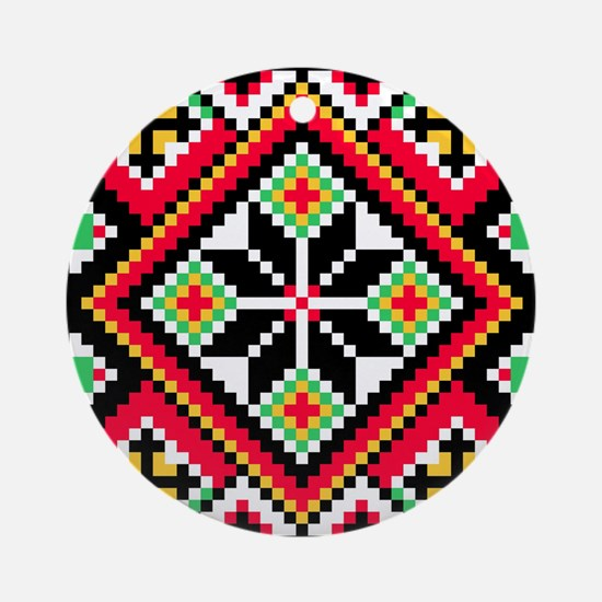 Folk Design 1 Ornament (Round)