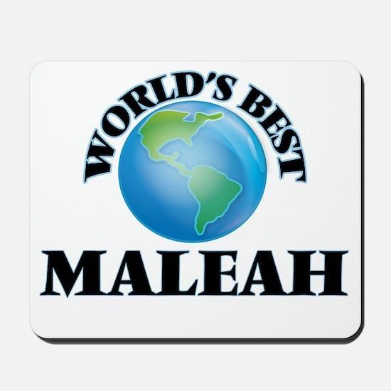 World's Best Maleah Mousepad