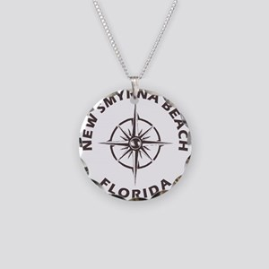 Florida - New Smyrna Beach Necklace Circle Charm