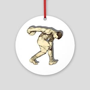 Discus Thrower Round Ornament