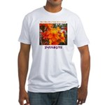 Flower With 'Tude Fitted T-Shirt