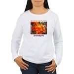 Flower With 'Tude Women's Long Sleeve T-Shirt