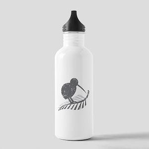 kiwi bird on a silver fern Sports Water Bottle