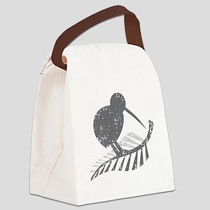 kiwi bird on a silver fern Canvas Lunch Bag