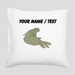 Custom Elephant Seal Square Canvas Pillow