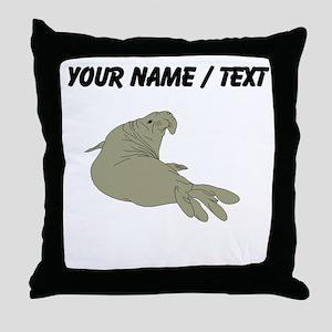 Custom Elephant Seal Throw Pillow