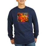 Flower With 'Tude Long Sleeve Navy/Black T-Shirt