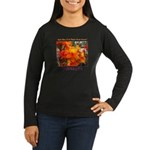 Flower With 'Tude Wmn's Long Sleeve Brown/Black T