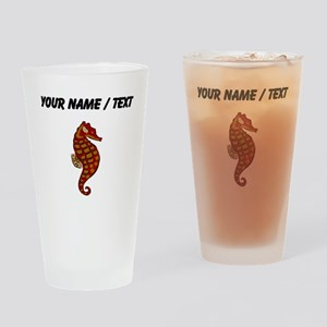 Custom Red Seahorse Drinking Glass
