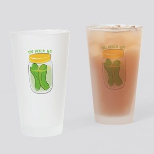 You Pickle Me Drinking Glass