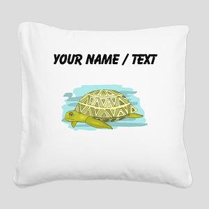 Custom Sea Turtle Square Canvas Pillow