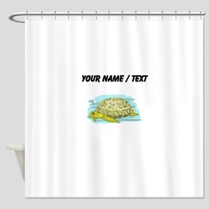 Custom Sea Turtle Shower Curtain