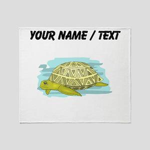 Custom Sea Turtle Throw Blanket