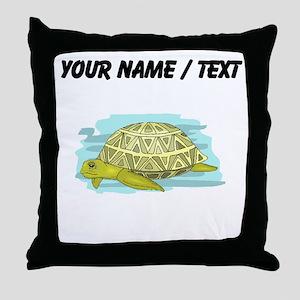 Custom Sea Turtle Throw Pillow